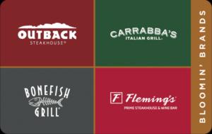 Buy Bloomin Brands Restaurant group Gift Cards or eGifts in bulk