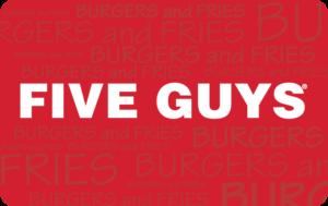 Buy Five Guys Gift Cards or eGifts in bulk