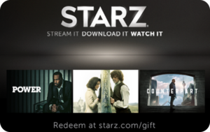 Buy Starz Gift Cards or eGifts in bulk